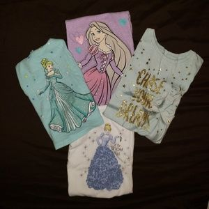 Bundle of Disney Princess Shirts Size 5